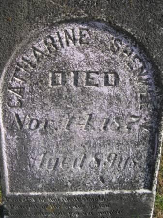SHENKLE, CATHARINE - Marshall County, Iowa   CATHARINE SHENKLE