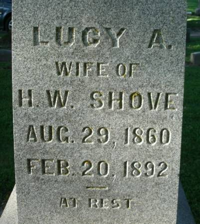 SHOVE, LUCY A. - Marshall County, Iowa | LUCY A. SHOVE