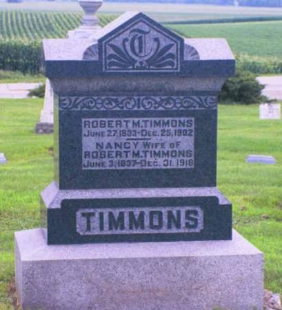 TIMMONS, ROBERT M. - Marshall County, Iowa | ROBERT M. TIMMONS