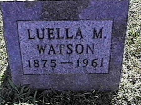 WATSON, LUELLA M. - Marshall County, Iowa | LUELLA M. WATSON