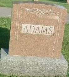 ADAMS, FAMILY HEADSTONE - Mills County, Iowa | FAMILY HEADSTONE ADAMS