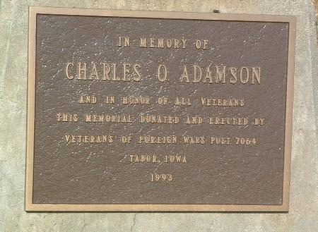 ADAMSON, CHARLES O. - Mills County, Iowa   CHARLES O. ADAMSON