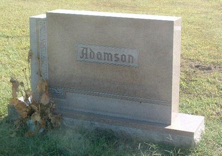 ADAMSON, FAMILY HEADSTONE - Mills County, Iowa   FAMILY HEADSTONE ADAMSON
