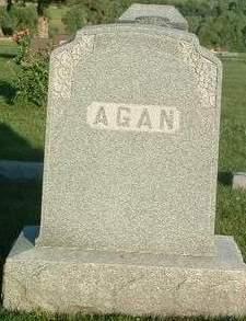 AGAN, FAMILY HEADSTONE - Mills County, Iowa | FAMILY HEADSTONE AGAN