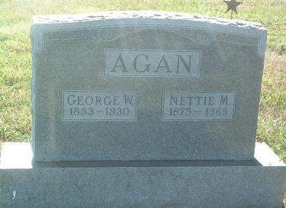 AGAN, GEORGE W. - Mills County, Iowa   GEORGE W. AGAN
