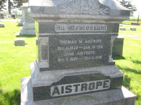 AISTROPE, THOMAS M. - Mills County, Iowa   THOMAS M. AISTROPE