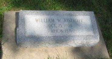 AISTROPE, WILLIAM W. - Mills County, Iowa   WILLIAM W. AISTROPE