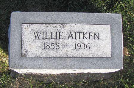 AITKEN, WILLIE - Mills County, Iowa   WILLIE AITKEN