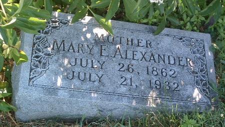 ALEXANDER, MARY E. - Mills County, Iowa | MARY E. ALEXANDER