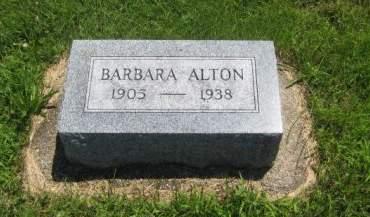 ALTON, BARBARA - Mills County, Iowa   BARBARA ALTON