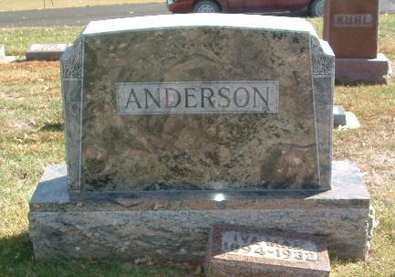 ANDERSON, FAMILY HEADSTONE - Mills County, Iowa | FAMILY HEADSTONE ANDERSON