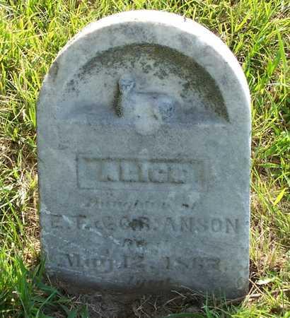 ANSON, ALICE - Mills County, Iowa | ALICE ANSON