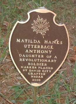 ANTHONY, MATILDA - Mills County, Iowa | MATILDA ANTHONY