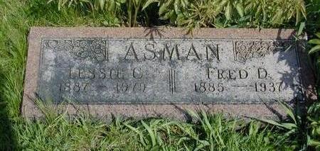 ASMAN, FRED DUNCAN - Mills County, Iowa | FRED DUNCAN ASMAN