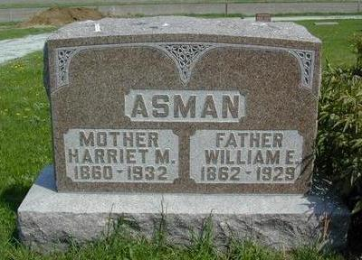 ASMAN, HARRIET MARIA - Mills County, Iowa | HARRIET MARIA ASMAN