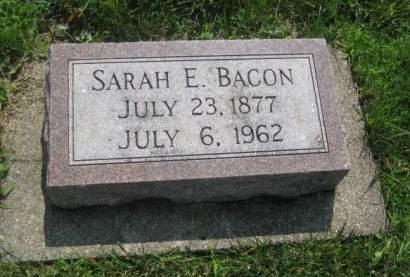 BACON, SARAH E. - Mills County, Iowa   SARAH E. BACON