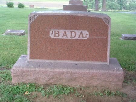 BADA, HEADSTONE - Mills County, Iowa   HEADSTONE BADA