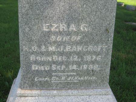 BANCROFT, EZRA G. - Mills County, Iowa   EZRA G. BANCROFT