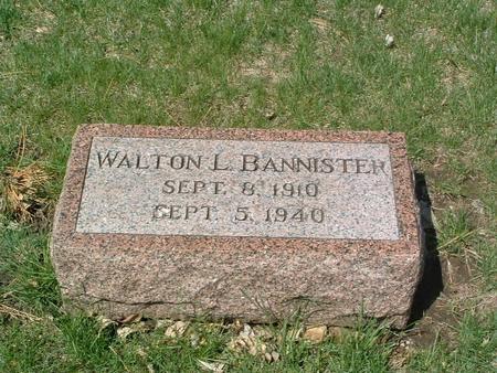 BANNISTER, WALTON L. - Mills County, Iowa | WALTON L. BANNISTER