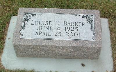 BARKER, LOUISE E. - Mills County, Iowa | LOUISE E. BARKER
