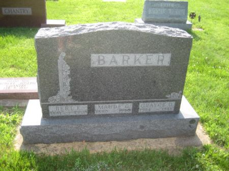BARKER, MAUDE - Mills County, Iowa   MAUDE BARKER