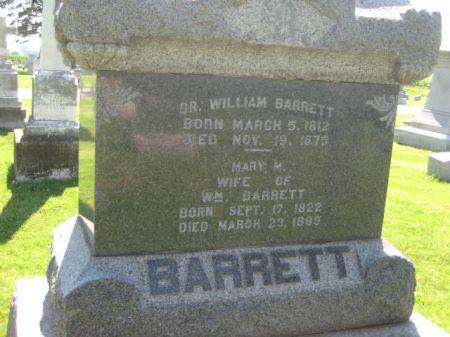 BARRETT, WILLIAM DR. - Mills County, Iowa   WILLIAM DR. BARRETT