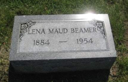 BEAMER, LENA MAUD - Mills County, Iowa   LENA MAUD BEAMER