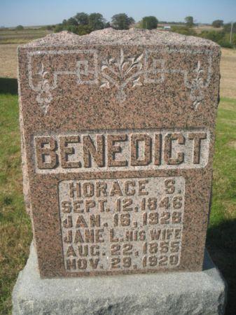 BENEDICT, HORACE S. - Mills County, Iowa   HORACE S. BENEDICT