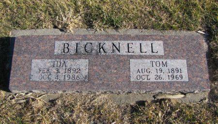 BICKNELL, IDA - Mills County, Iowa   IDA BICKNELL