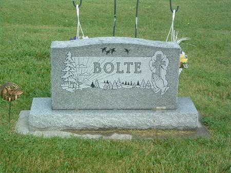 BOLTE, HEADSTONE - Mills County, Iowa | HEADSTONE BOLTE