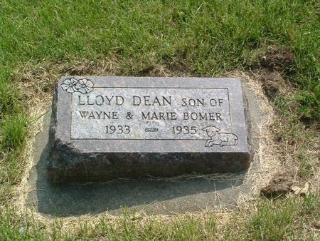 BOMER, LLOYD DEAN - Mills County, Iowa   LLOYD DEAN BOMER