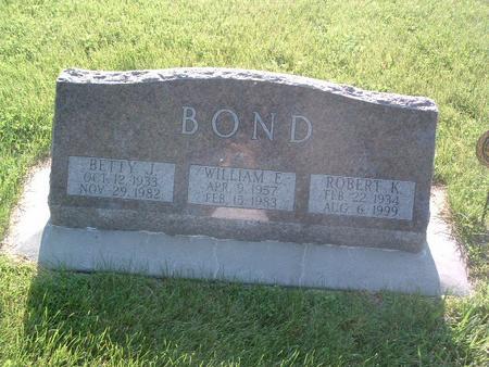 BOND, WILLIAM E. - Mills County, Iowa | WILLIAM E. BOND