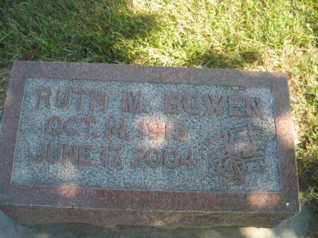 BOWEN, RUTH M. - Mills County, Iowa | RUTH M. BOWEN
