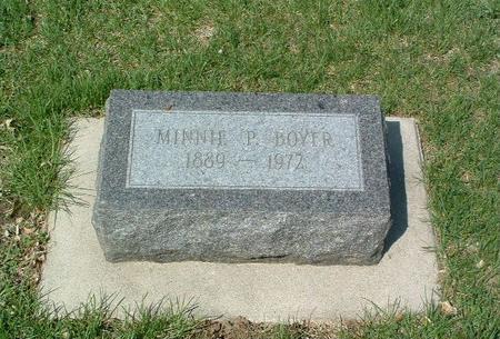 BOYER, MINNIE - Mills County, Iowa | MINNIE BOYER