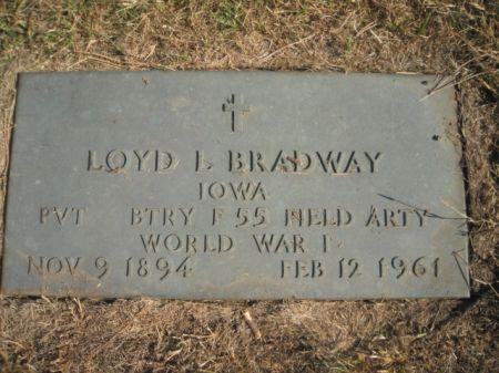 BRADWAY, LOYD - Mills County, Iowa   LOYD BRADWAY