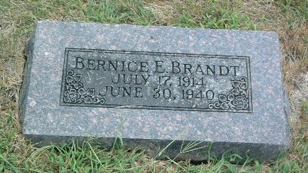 BRANDT, BERNICE E. - Mills County, Iowa | BERNICE E. BRANDT