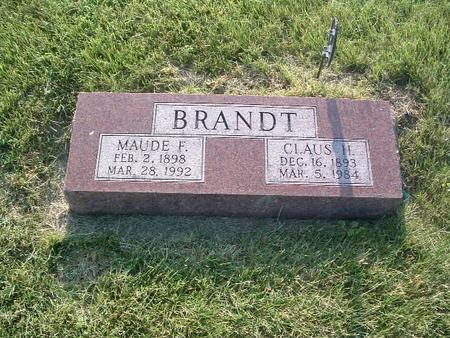 BRANDT, MINNIE A. - Mills County, Iowa | MINNIE A. BRANDT