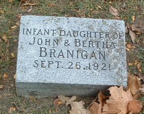 BRANIGAN, INFANT DAUGHTER - Mills County, Iowa | INFANT DAUGHTER BRANIGAN