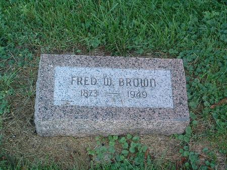 BROWN, FRED W. - Mills County, Iowa | FRED W. BROWN