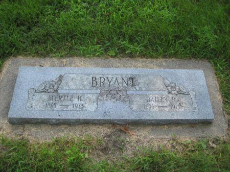 BRYANT, MYRTLE H. - Mills County, Iowa   MYRTLE H. BRYANT
