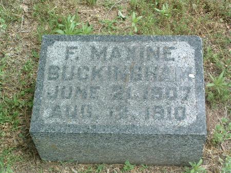 BUCKINGHAM, F. MAXINE - Mills County, Iowa | F. MAXINE BUCKINGHAM