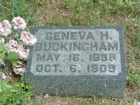 BUCKINGHAM, GENEVA H. - Mills County, Iowa | GENEVA H. BUCKINGHAM