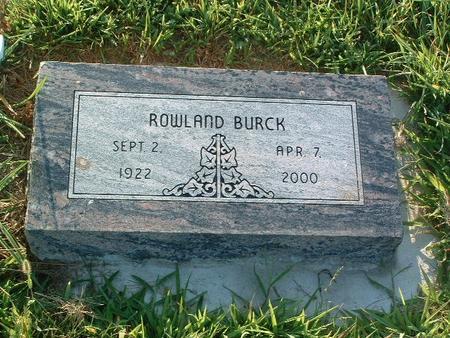 BURCK, ROWLAND - Mills County, Iowa   ROWLAND BURCK