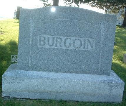 BURGOIN, FAMILY HEADSTONE - Mills County, Iowa | FAMILY HEADSTONE BURGOIN