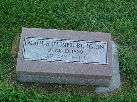 BURGOIN, MAUDE - Mills County, Iowa | MAUDE BURGOIN