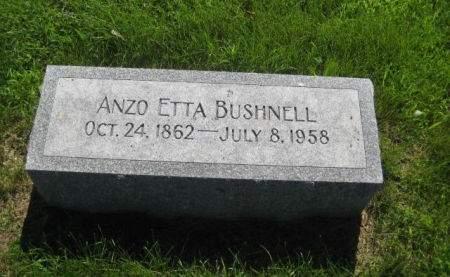 BUSHNELL, ANZO ETTA - Mills County, Iowa   ANZO ETTA BUSHNELL