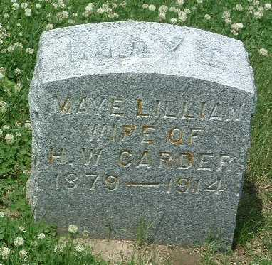 CARDER, MAYE LILLIAN - Mills County, Iowa | MAYE LILLIAN CARDER