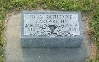 CARTWRIGHT, IONA KATHERINE - Mills County, Iowa | IONA KATHERINE CARTWRIGHT