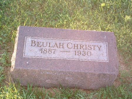 CHRISTY, BEULAH - Mills County, Iowa | BEULAH CHRISTY