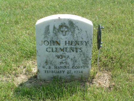 CLEMENTS, JOHN HENRY - Mills County, Iowa | JOHN HENRY CLEMENTS
